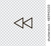 rewind icon vector  clip art....