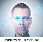 face recognition system | Shutterstock . vector #485944000
