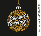 holidays greeting card with... | Shutterstock .eps vector #485945236