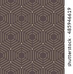 geometric repeating vector... | Shutterstock .eps vector #485946619