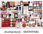 decorative cosmetics  top view | Shutterstock . vector #485949580