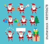 santa claus set | Shutterstock .eps vector #485950678