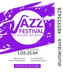 vector musical flyer jazz... | Shutterstock .eps vector #485955628