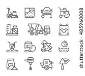 set line icons of concrete... | Shutterstock . vector #485960008