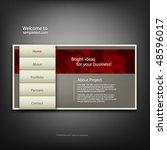 website design template  vector. | Shutterstock .eps vector #48596017