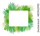 tropical leaves. floral design... | Shutterstock .eps vector #485962990