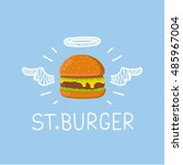 "burger concept ""st. burger""... | Shutterstock .eps vector #485967004"