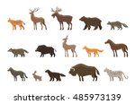 animals icon set. vector... | Shutterstock .eps vector #485973139