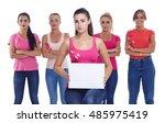 breast cancer awareness health... | Shutterstock . vector #485975419