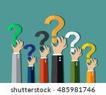 concept of questioning  | Shutterstock .eps vector #485981746