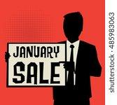 man showing board  business...   Shutterstock .eps vector #485983063