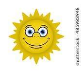 sun smiling vector illustration | Shutterstock .eps vector #485983948