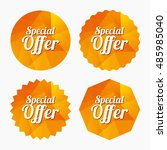 special offer sign icon. sale... | Shutterstock .eps vector #485985040