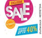 exclusive sale poster  banner... | Shutterstock .eps vector #485987344