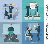 public speaking skills coaching ... | Shutterstock . vector #485989666