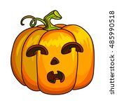 holiday halloween pumpkin jack... | Shutterstock .eps vector #485990518