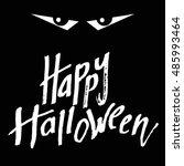 happy halloween holiday... | Shutterstock .eps vector #485993464