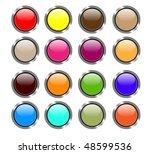 set of sixteen shiny buttons... | Shutterstock .eps vector #48599536