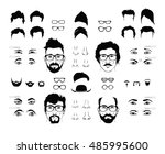 vector elements of a person's... | Shutterstock .eps vector #485995600