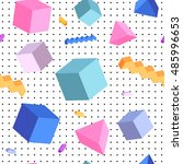 colorful hipster geometric... | Shutterstock .eps vector #485996653
