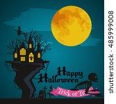 night terrors and nightmares...   Shutterstock .eps vector #485999008