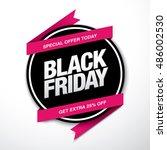 black friday sale label | Shutterstock .eps vector #486002530