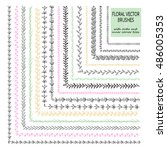 vector set of 15 hand drawn... | Shutterstock .eps vector #486005353