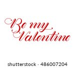 valentines day card. lettering... | Shutterstock .eps vector #486007204