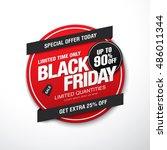 black friday sale label | Shutterstock .eps vector #486011344
