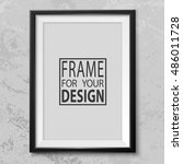frame on grey grunge wall.... | Shutterstock .eps vector #486011728