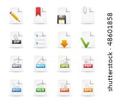 documents    professional icon... | Shutterstock .eps vector #48601858