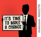 man showing board  business...   Shutterstock .eps vector #486022750
