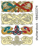 abstract celtic color design... | Shutterstock .eps vector #48602374