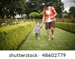 mother and young son at the... | Shutterstock . vector #48602779