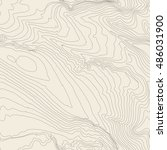 topographic map background... | Shutterstock . vector #486031900