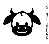 cow icon illustration isolated...   Shutterstock .eps vector #486032428