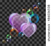 shiny bubble heart | Shutterstock .eps vector #486036538