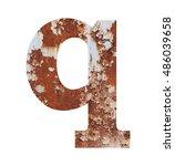 old rusty metal alphabet  text... | Shutterstock . vector #486039658
