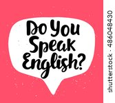 do you speak english  banner.... | Shutterstock .eps vector #486048430