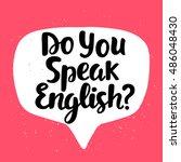 do you speak english  banner.... | Shutterstock .eps vector #486048430