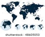 map of the world and earth... | Shutterstock .eps vector #48605053