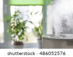 vapor from humidifier in the...   Shutterstock . vector #486052576