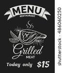 restaurant  menu  vintage... | Shutterstock .eps vector #486060250
