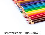 line pencil color isolated... | Shutterstock . vector #486060673