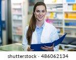 portrait of pharmacist holding... | Shutterstock . vector #486062134