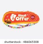 traditional diwali offer banner ... | Shutterstock .eps vector #486065308