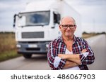 Portrait Of A Truck Driver Wit...