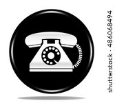 old phone icon. internet button.... | Shutterstock . vector #486068494