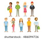 set of style young people  | Shutterstock .eps vector #486094726
