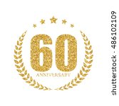template logo 60 years... | Shutterstock .eps vector #486102109